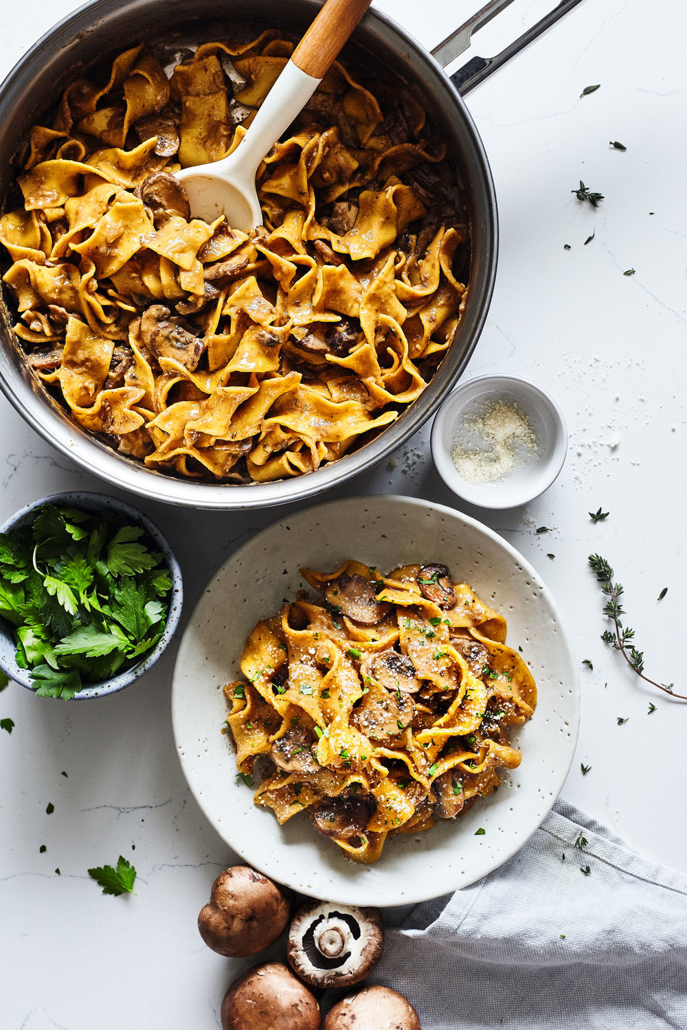 Mushroom Stroganoff // Natural Girl Modern World // Vegetarian (Vegan option)