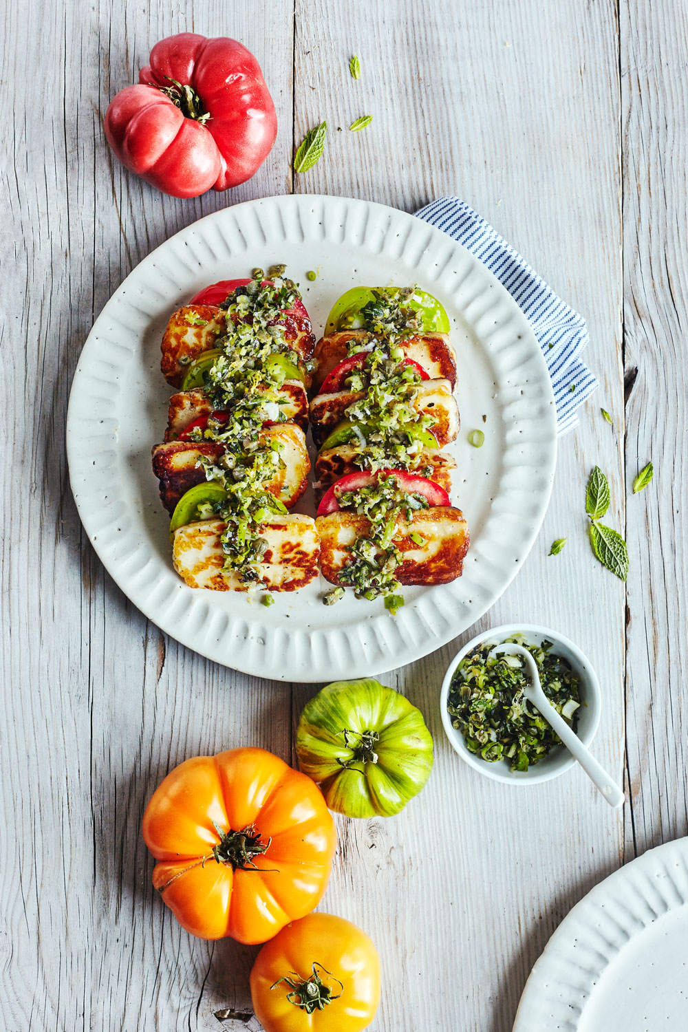 Seared Halloumi with Tomato & Fresh Herbs // Natural Girl Modern World // Gluten Free