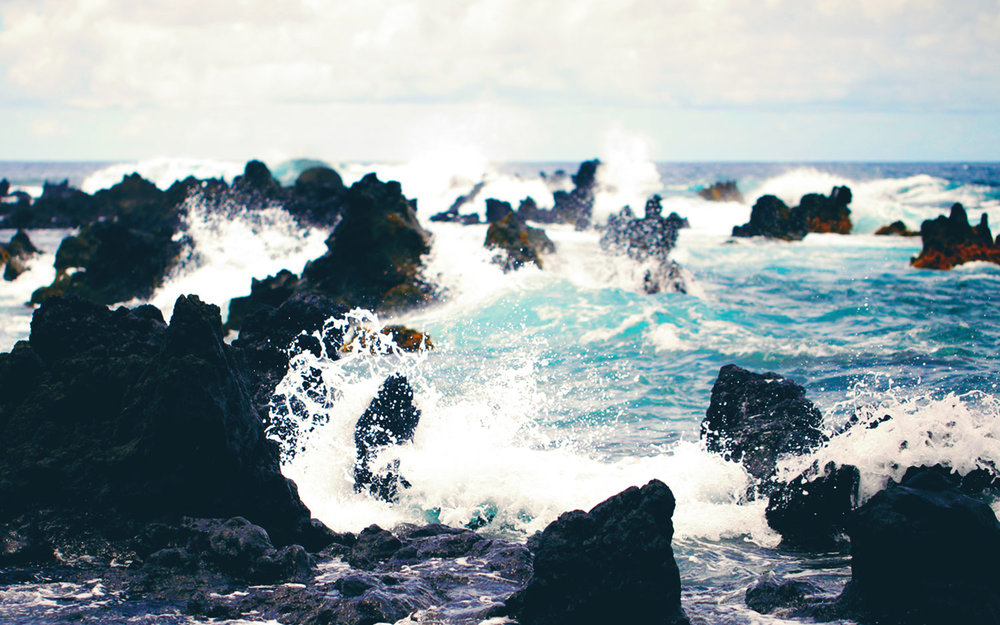 Waves Crashing on Beach (Hawaii) | Photo property of Evergreen Kitchen