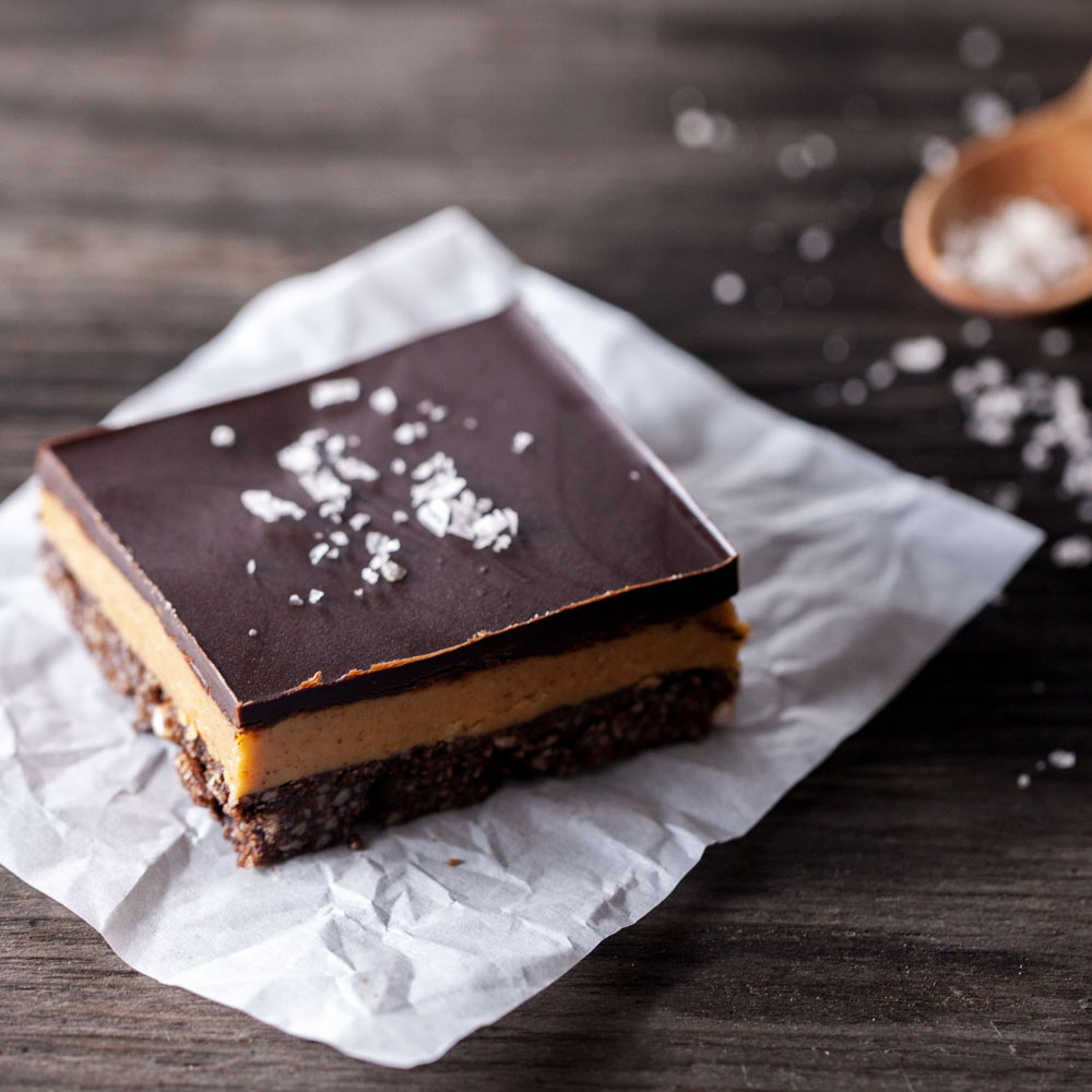 Chocolate Peanut Butter Squares | Evergreen Kitchen | Vegan & Gluten Free