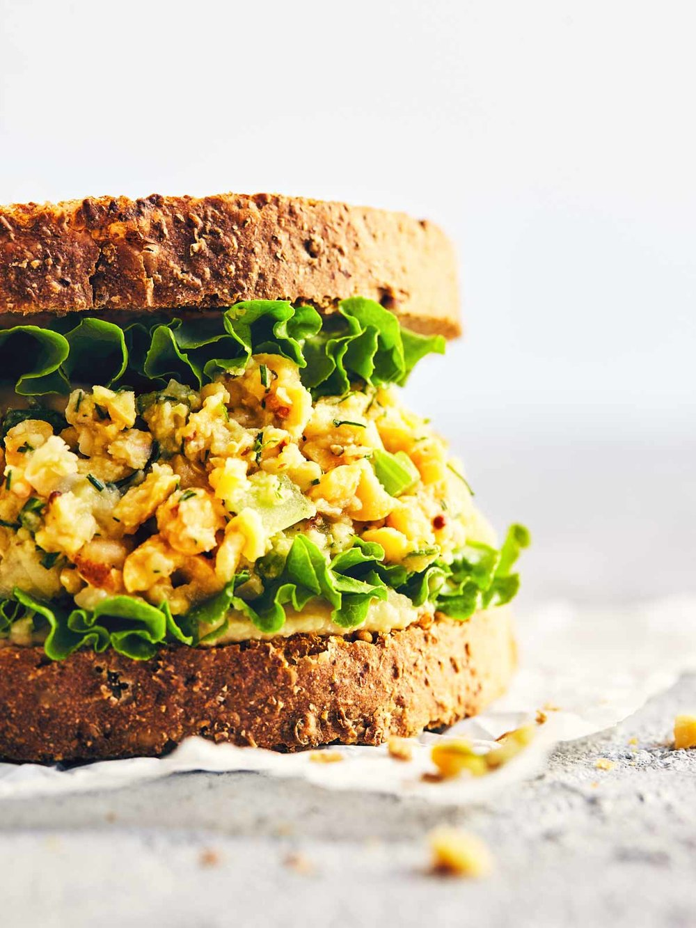 Lemon & Dill Chickpea Sandwich | Evergreen Kitchen | Vegan