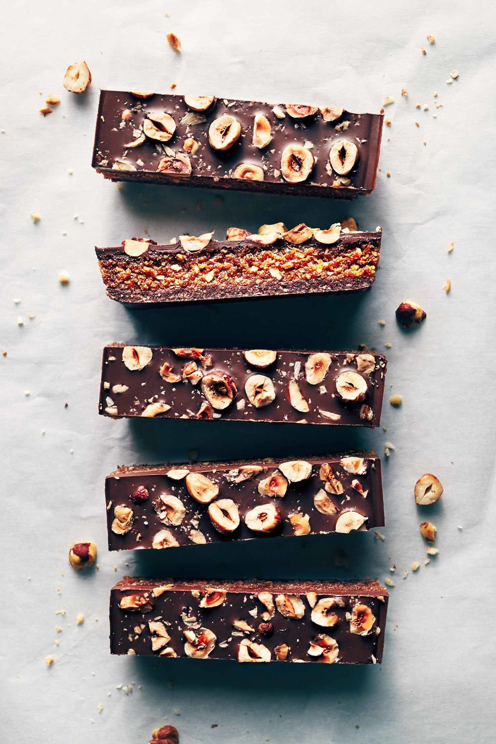 Chocolate Hazelnut Praline Bars | Evergreen Kitchen | Vegan & Gluten Free