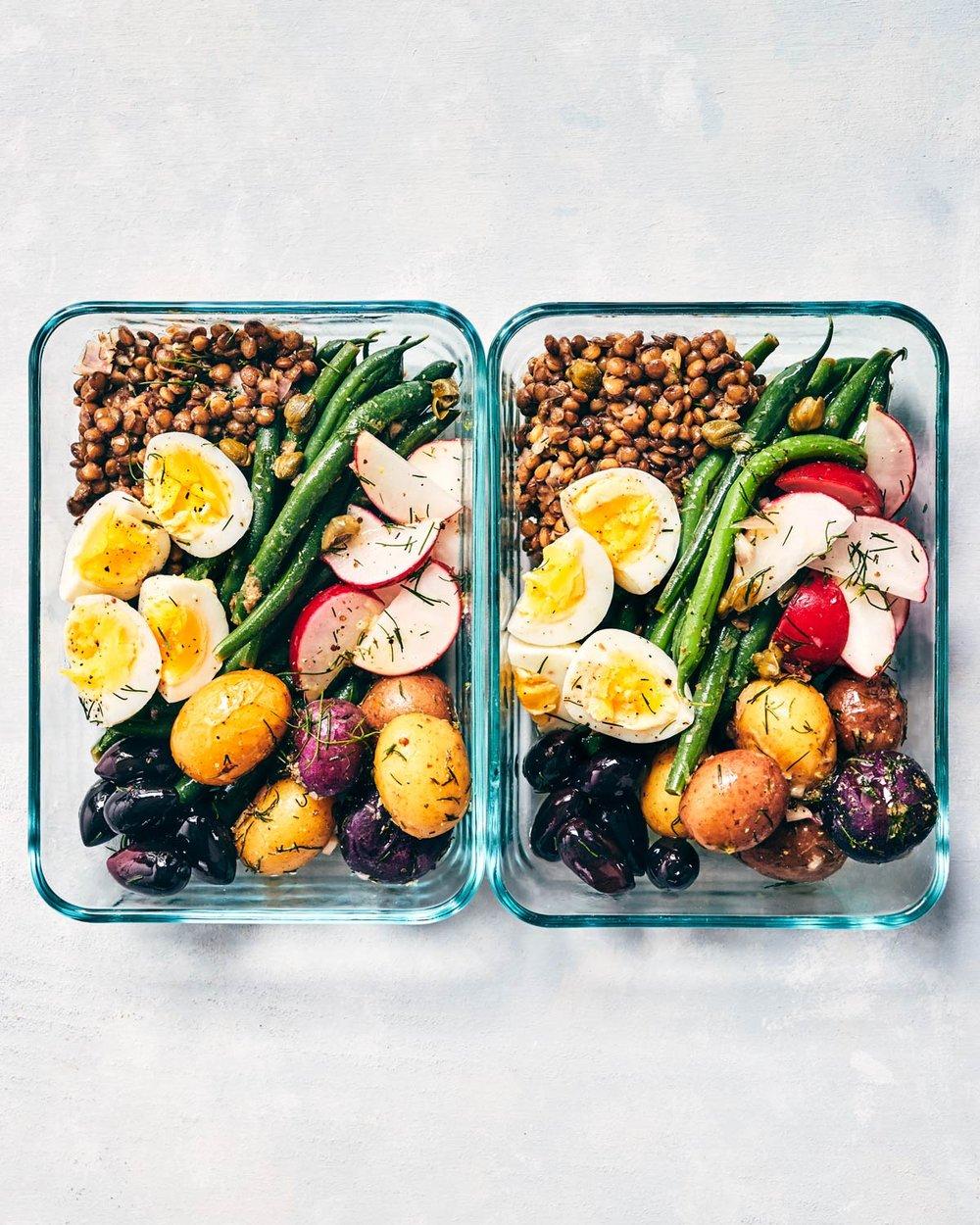 Vegetarian Lentil Nicoise Salad | Evergreen Kitchen | Gluten Free