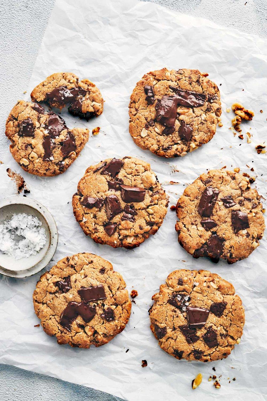 Nutty Chocolate Chunk Cookies (Vegan) | Evergreen Kitchen | Vegan