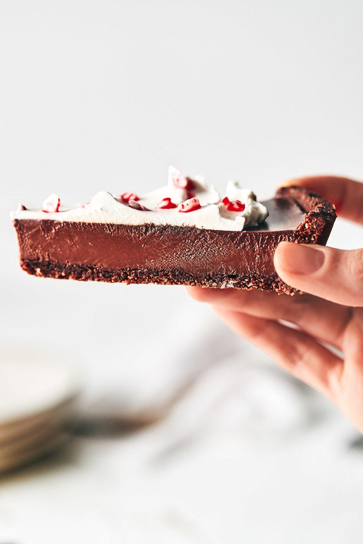 Vegan Chocolate Peppermint Tart | Evergreen Kitchen | Vegan, Gluten Free