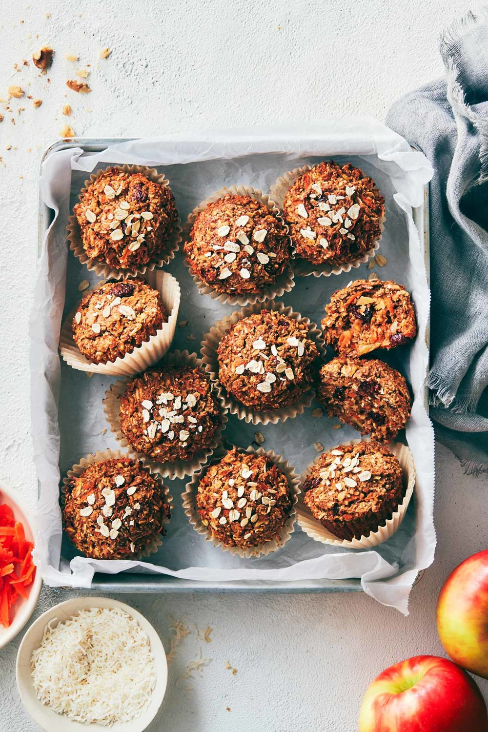 Morning Glory Muffins | Evergreen Kitchen | Vegan & Gluten Free