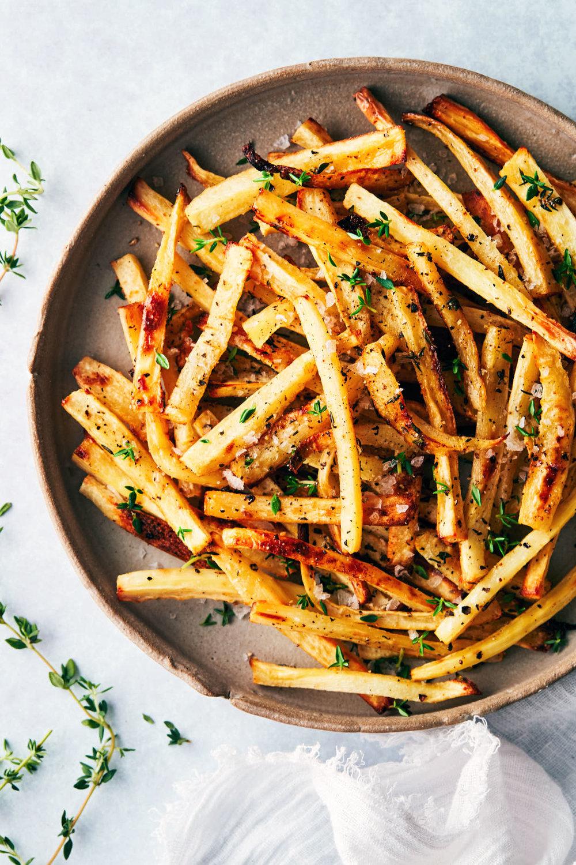Parsnip Shoestring Fries | Evergreen Kitchen | Vegan, Gluten Free