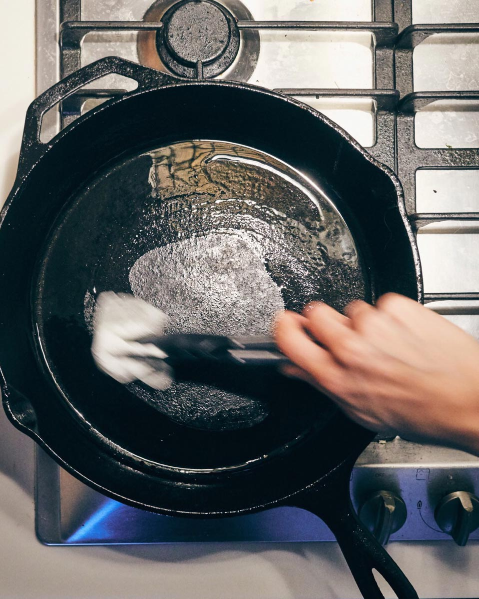 How to: Take care of your cast iron pan - Learn our best tips and tricks for taking care of your cast iron. Coming Soon!