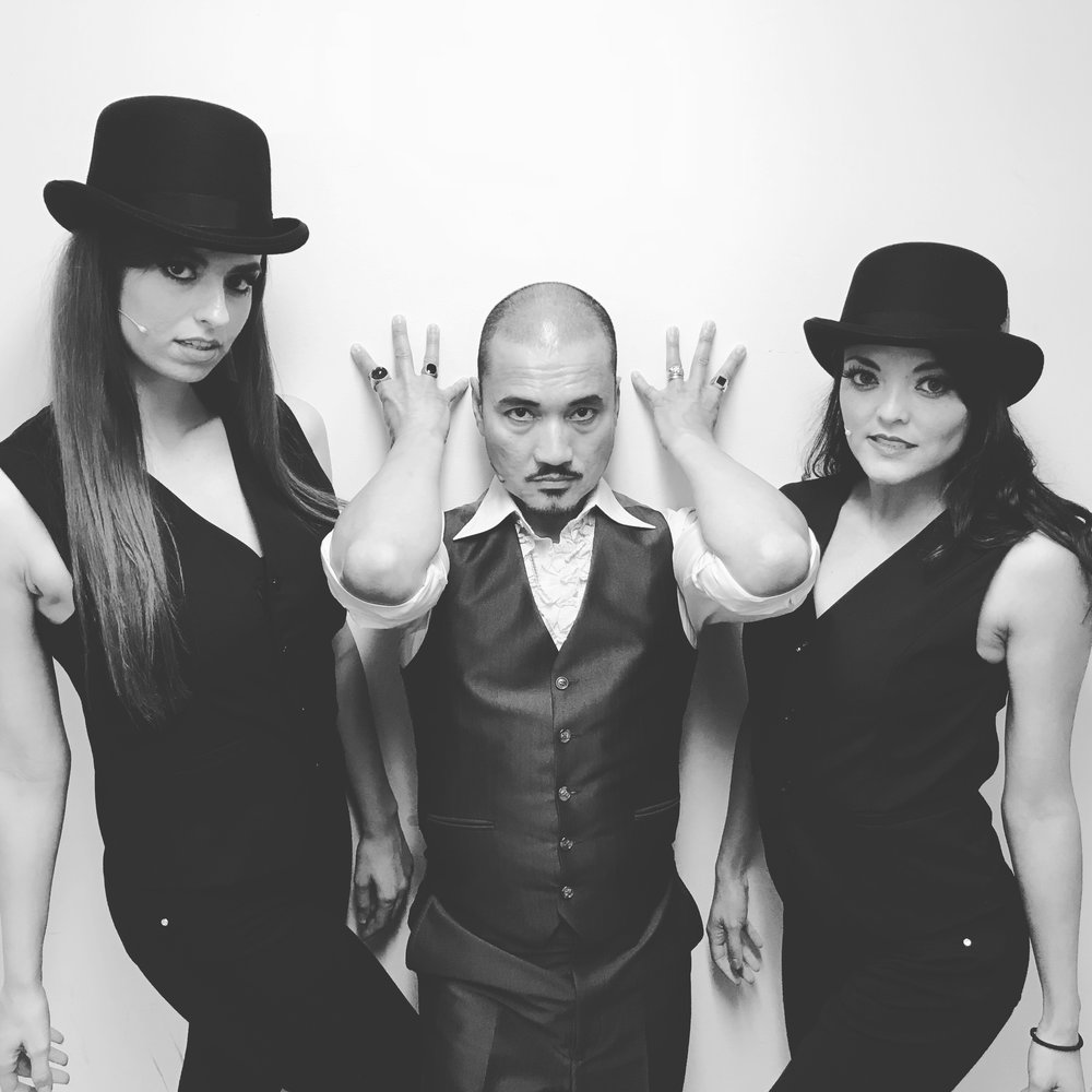 From Left: UCLA Grad Claudia Baffo, the incomparable (and thumbless) Jon Jon Briones, and me.