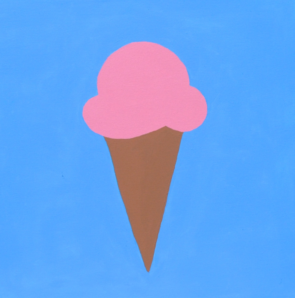 blue, ice-cream cone