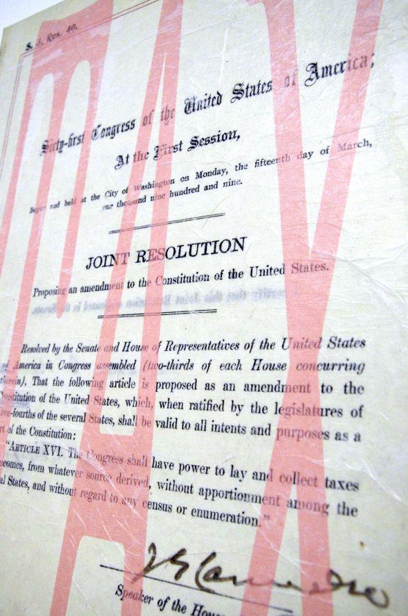 16th Amendment 16th Amendment Income Tax 16th