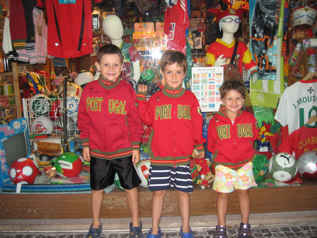Miguel, Luca and Zeca in their Portuguese Finery