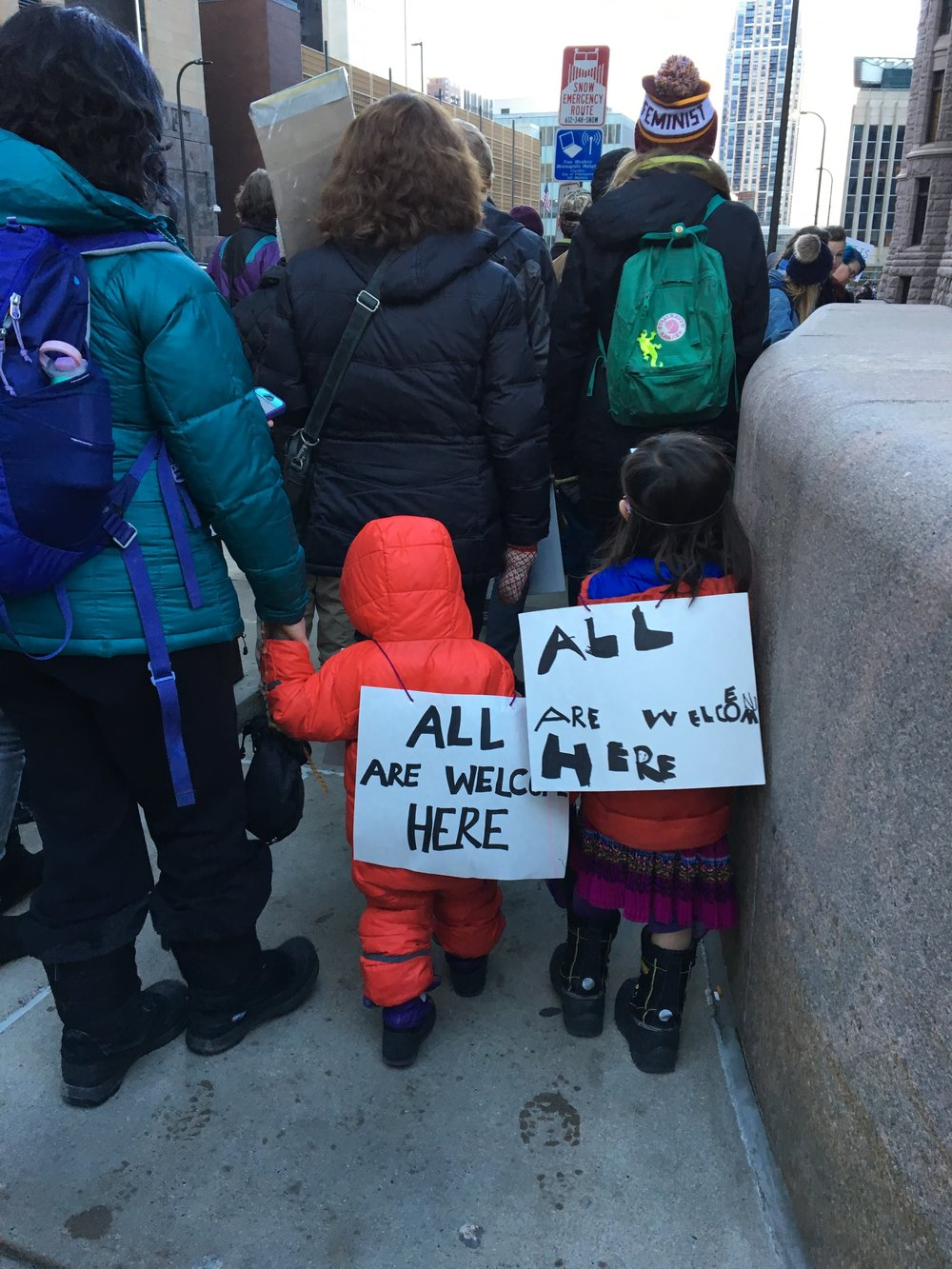 children at protest