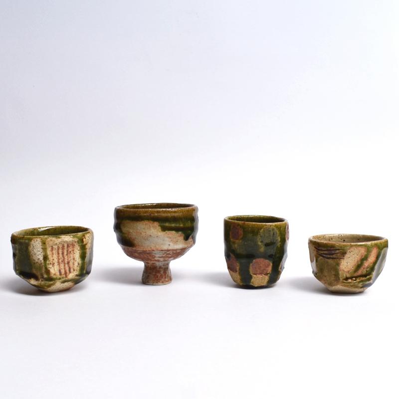 Oribe sake cups