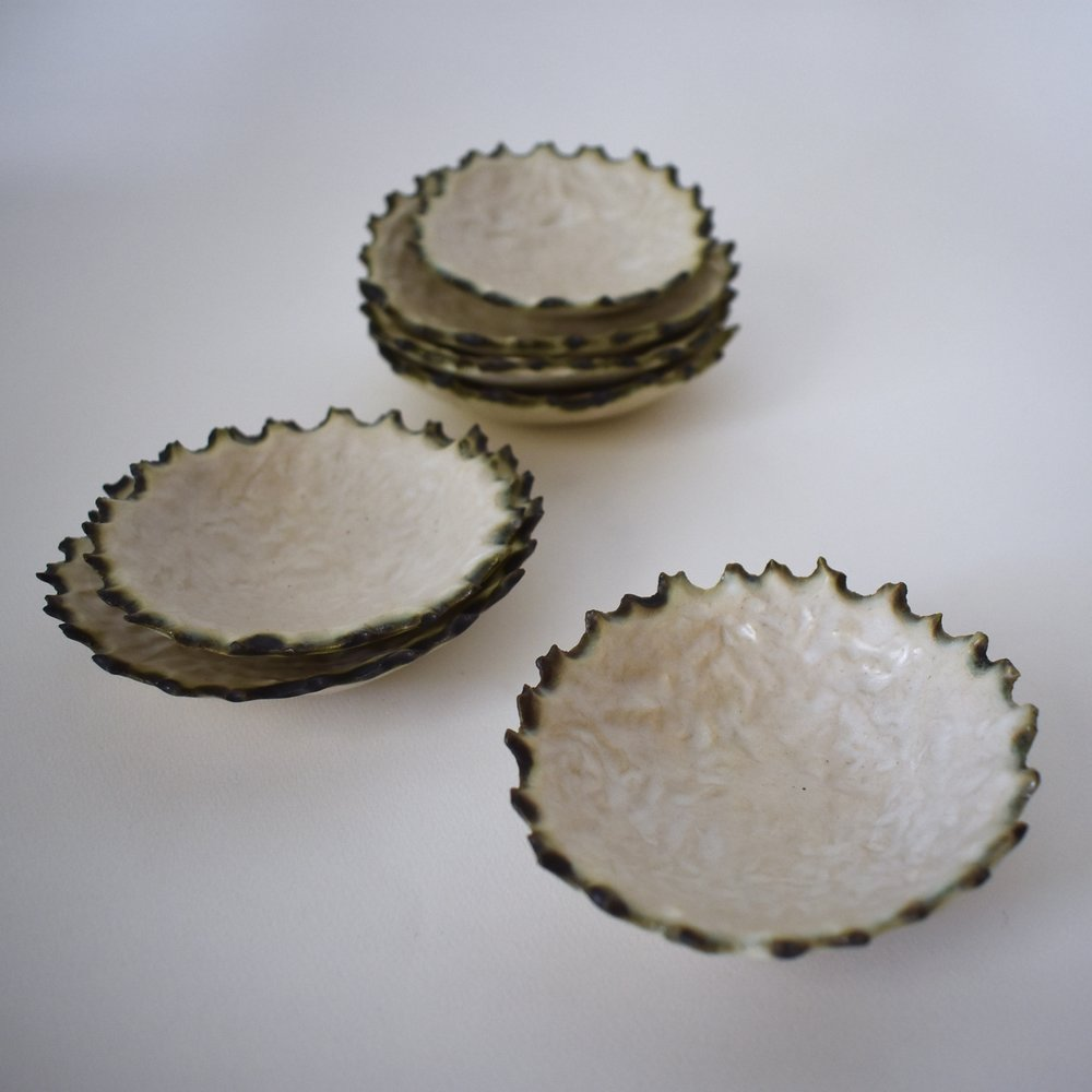 Scalloped saucers