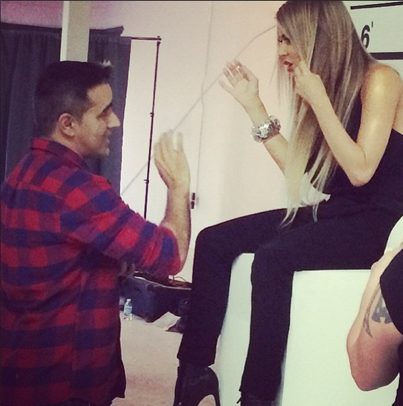 Walid Azami talking to Carmen Electra