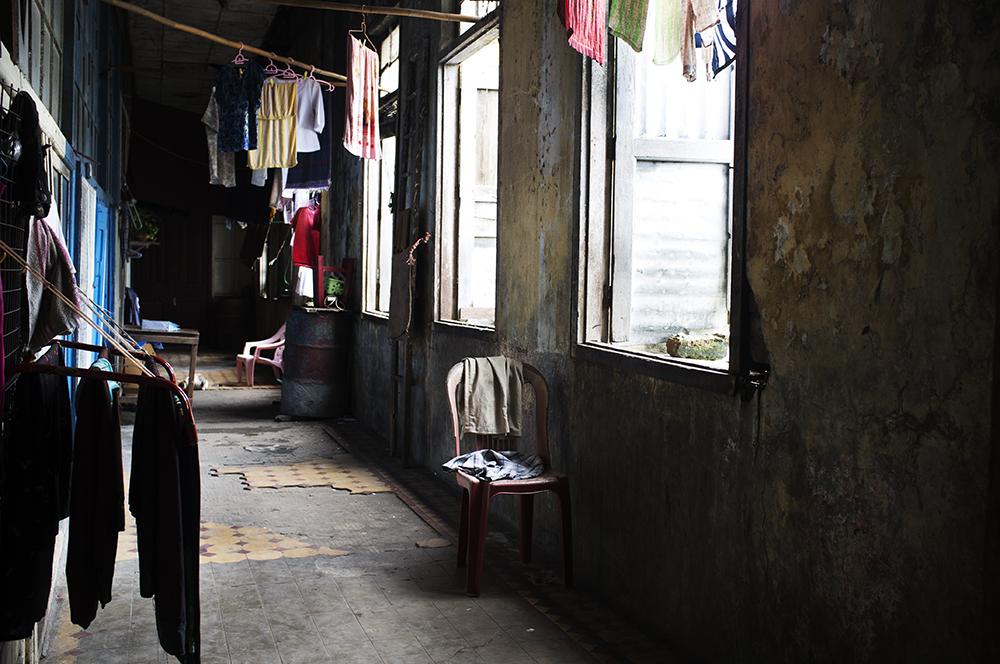 Occupied corridor.