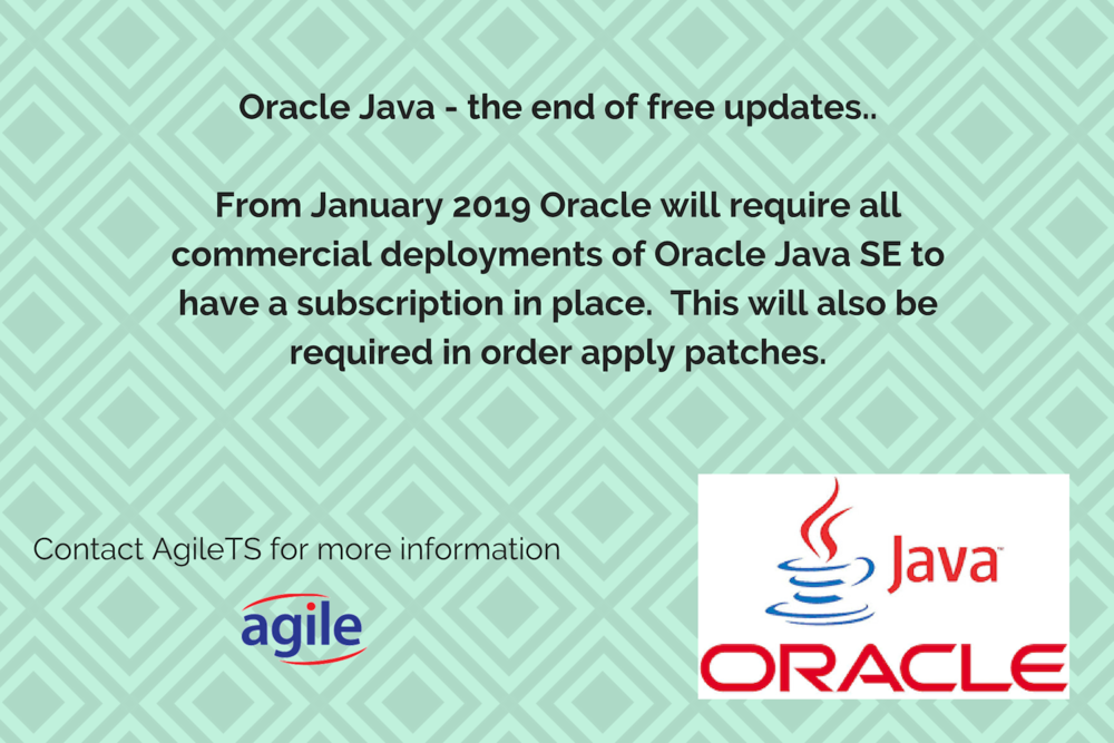 Oracle Java subscription advice