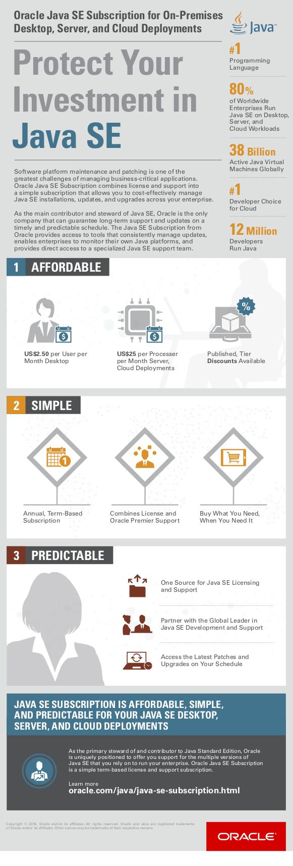 AgileTS Oracle Java SE infographic
