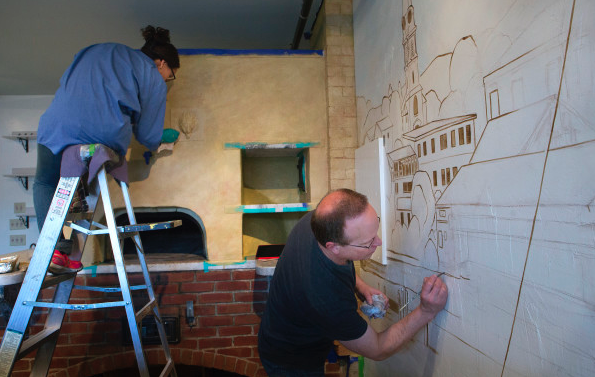 Bangor Daily News Article .A nicely written piece introducing us to the community and our first project in Camden, Maine at Fireside Restaurant.