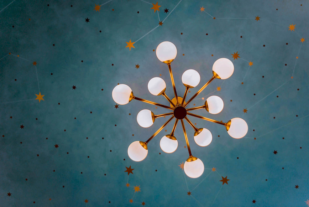 Two itinerant artisans walls kuhn for Constellation ceiling mural
