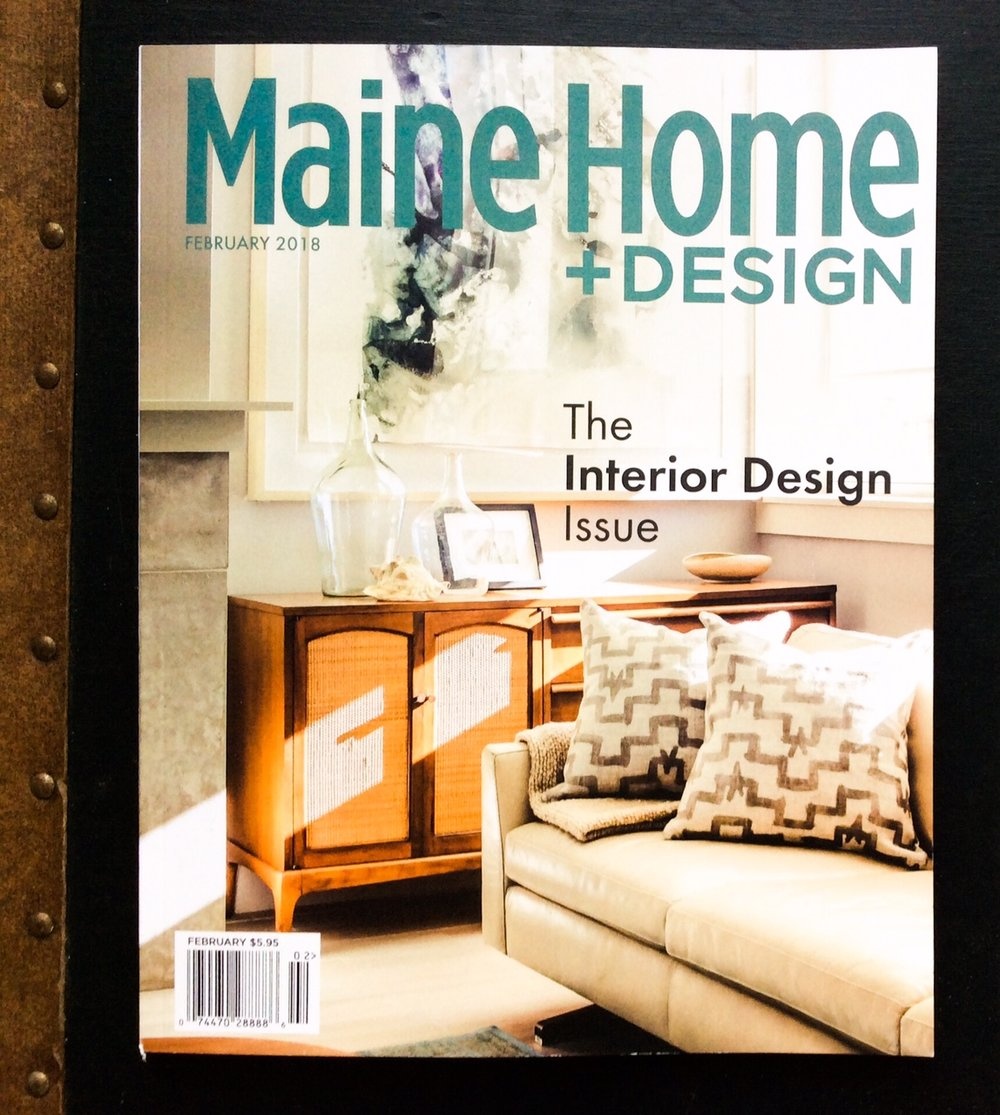 Maine Home+Design. Working with Megan van der Kieft of Margo Moore Design we completed this fabulous Lakeside Cabin last year in Camden, Maine.