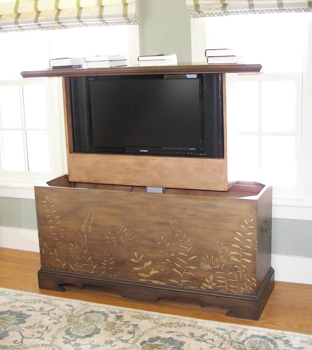Fern Insprired Television Cabinet