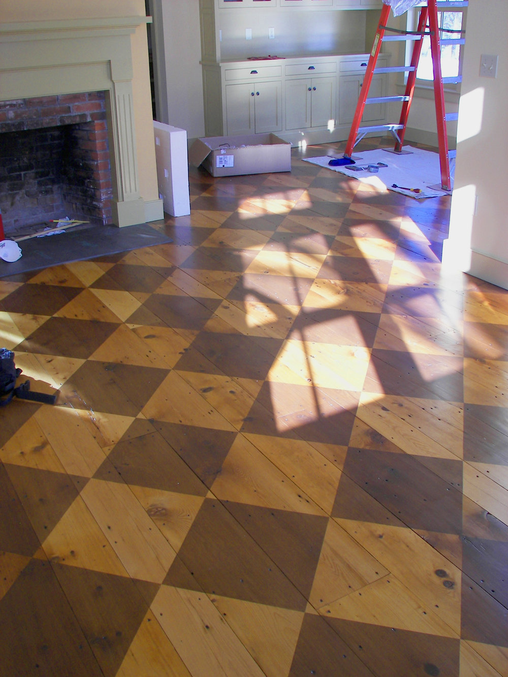 The Painted Floor + the Farmhouse