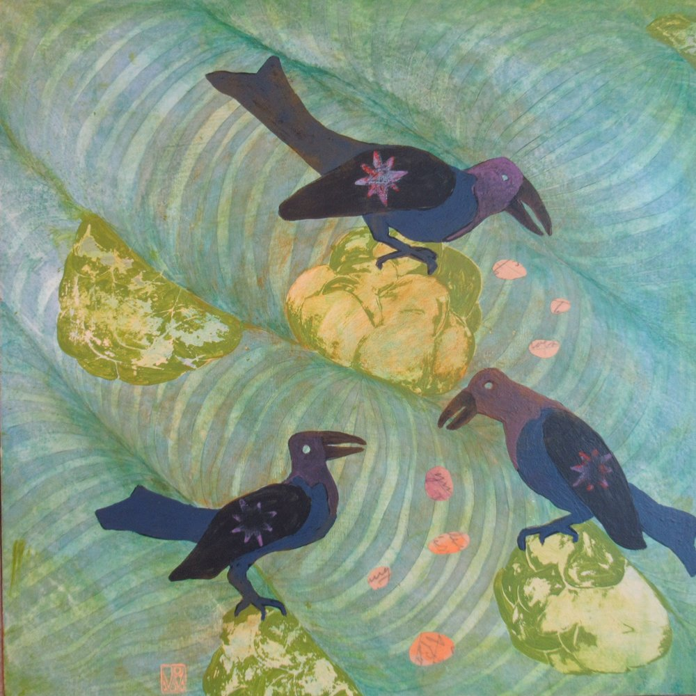 Grackles and Green Roses