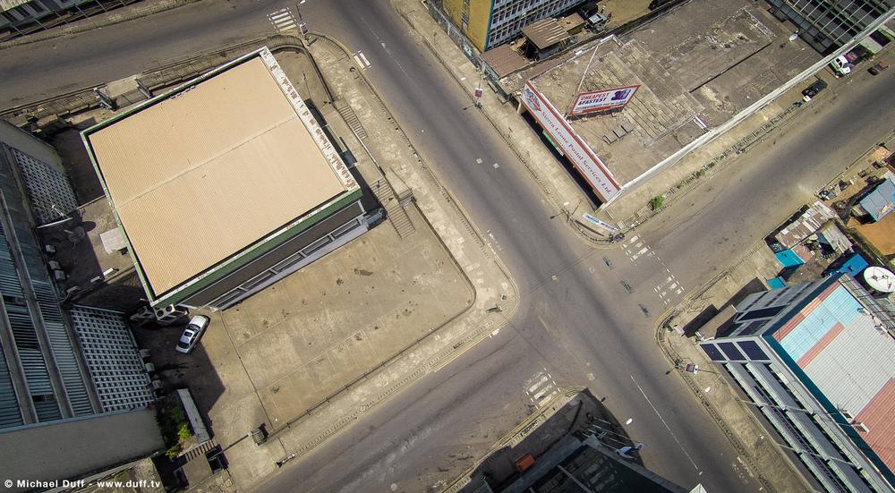 Empty Freetown Streets