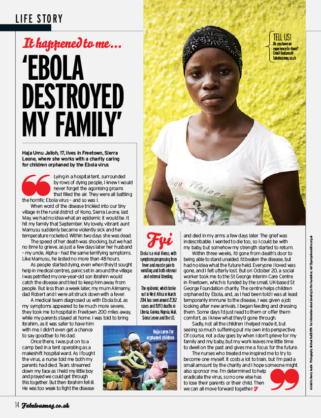 Fabulous Mag - Ebola Destroyed My Family