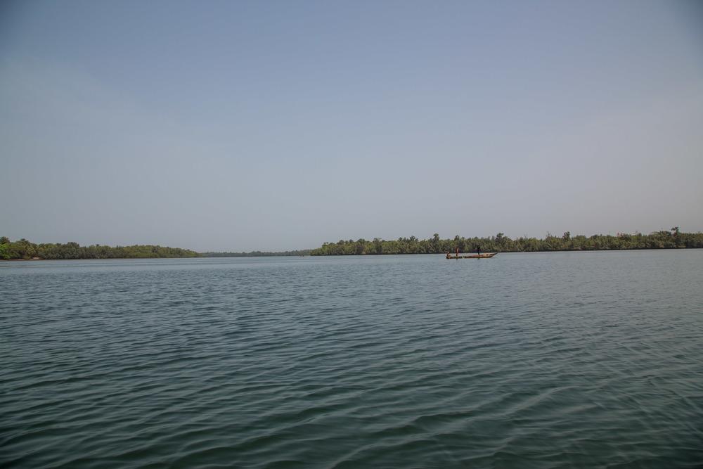 wide shot in harbour