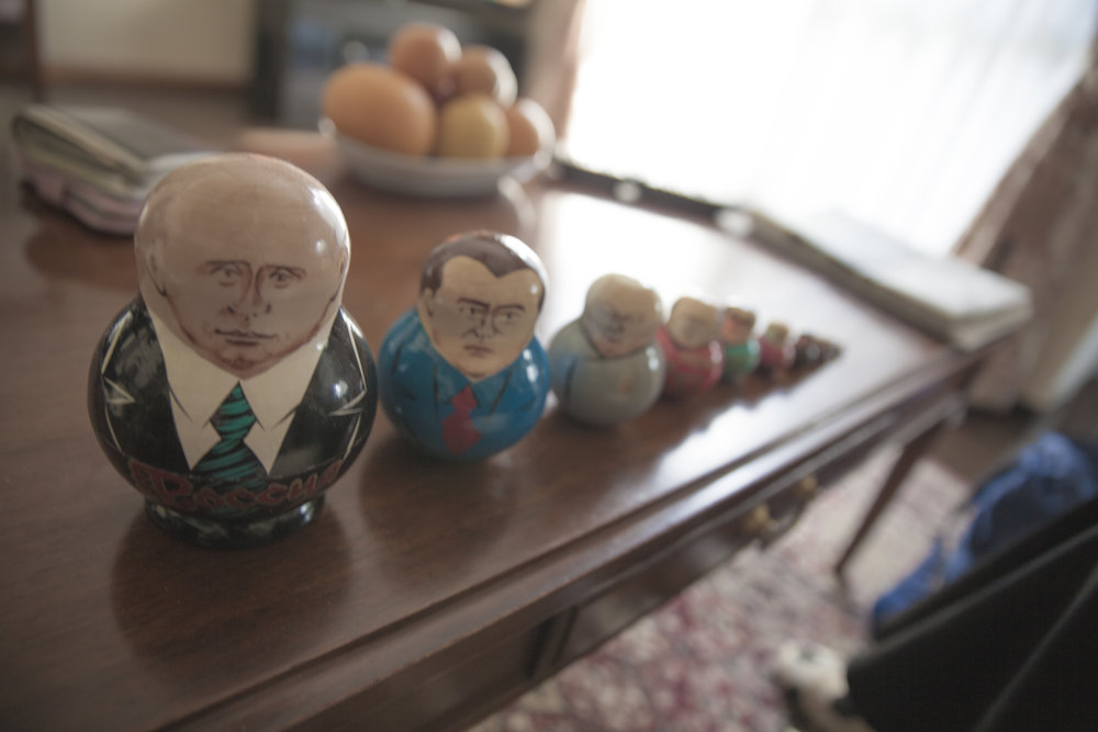 One of the mothers souvenirs from Russia that I found very intriguing and strange.
