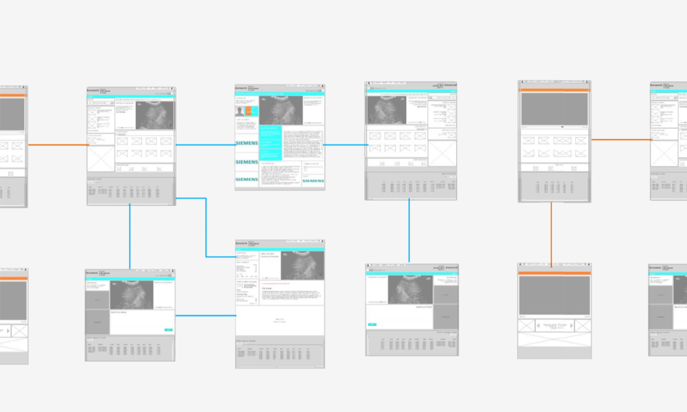 Sonoworld:  screenshot from   wireframing process