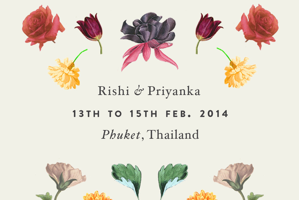 R + P Wedding  A floral themed communication design for a wedding in Thailand.