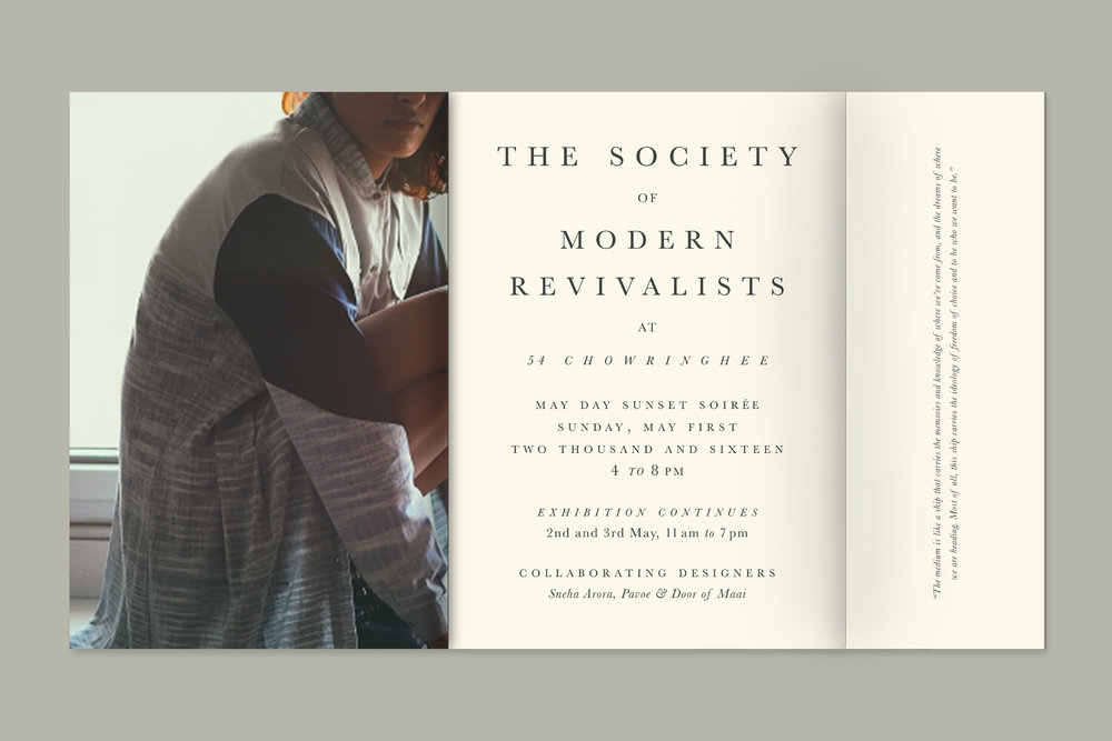 The Society of Modern Revivalists  Event focusing on upcoming fashion designers producing minimal sustainable clothing
