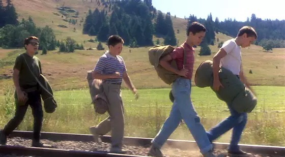 Corey Feldman, Jerry O'Connell, Wil Wheaton and River Phoenix in Stand By Me