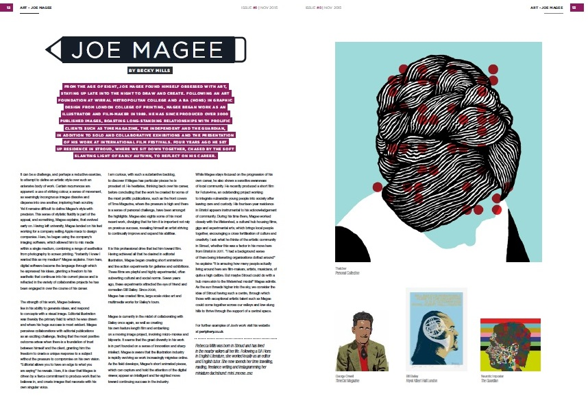 Joe Magee, Good On Paper Issue #8 November 2015. Interview by Rebecca Mills