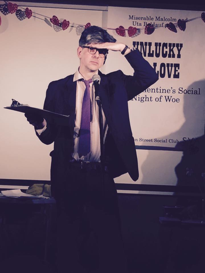 Miserable Malcolm at Unlucky In Love: A Pre-Valentine's Night Of Woe   photo by Simon Gunn