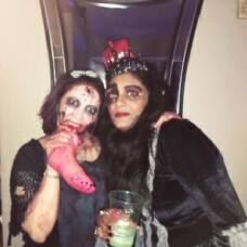 Moushumi and Serina Halloween 2017
