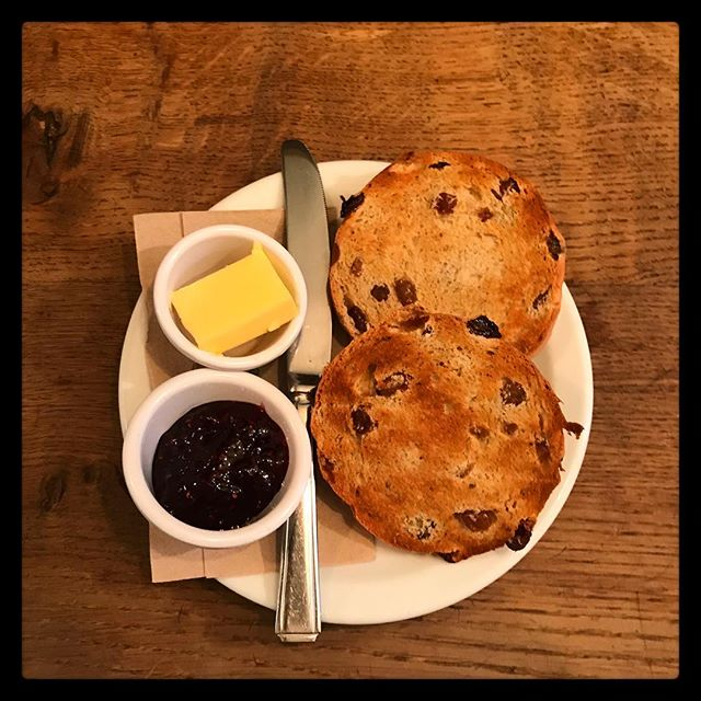 Toasted Teacakes are also a great winter warmer, served with Butter and Jam. Also served with sunflower spread as our teacakes are vegan  #vegan . . . . . . . #teacakes #toastedteacake #jam #homemade #baking #cafe #ambleside #rattleghyll #rattleghyllcafe #lakedistrict #cumbria