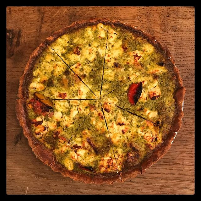 Quiche of the day is Roasted peppers, Feta & Pesto. Served with a selection of today's salads. . . . . . . . . #homemade #quiche #lunch #cafe #food #rattleghyll #rattleghyllcafe #ambleside #lakedistrict #cumbria