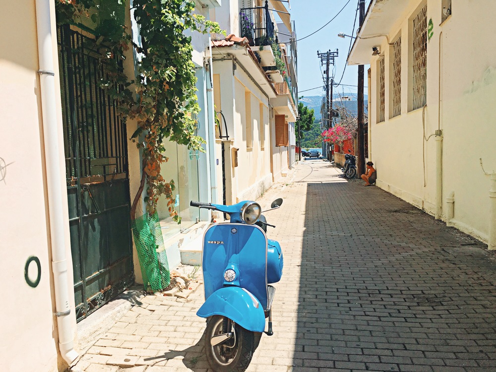 Vespas everywhere on the island! Literally every style and color you could imagine