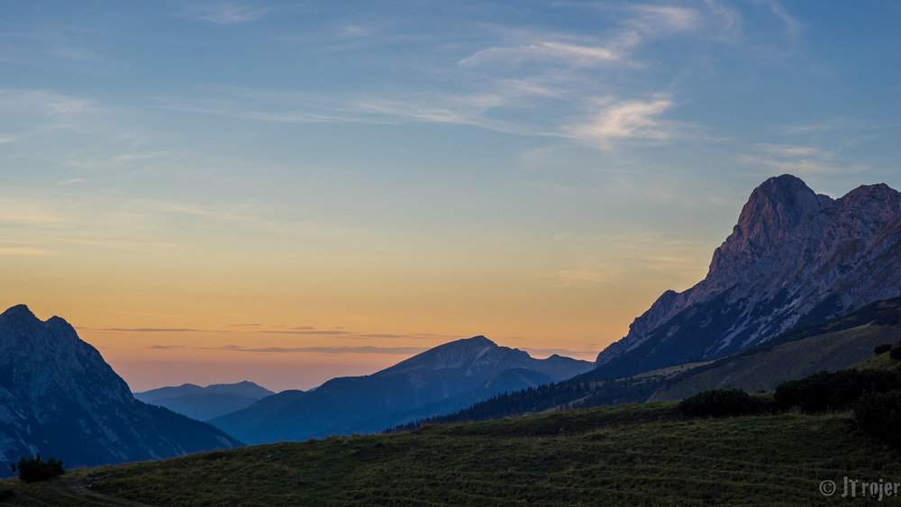 Sunset taken from the Falkenhütte with my 58mm Rokkor lens on the A7r