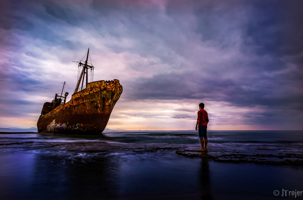 Famous shipwreck in Greece - Won the Shipwreck Challenge on Viewbug