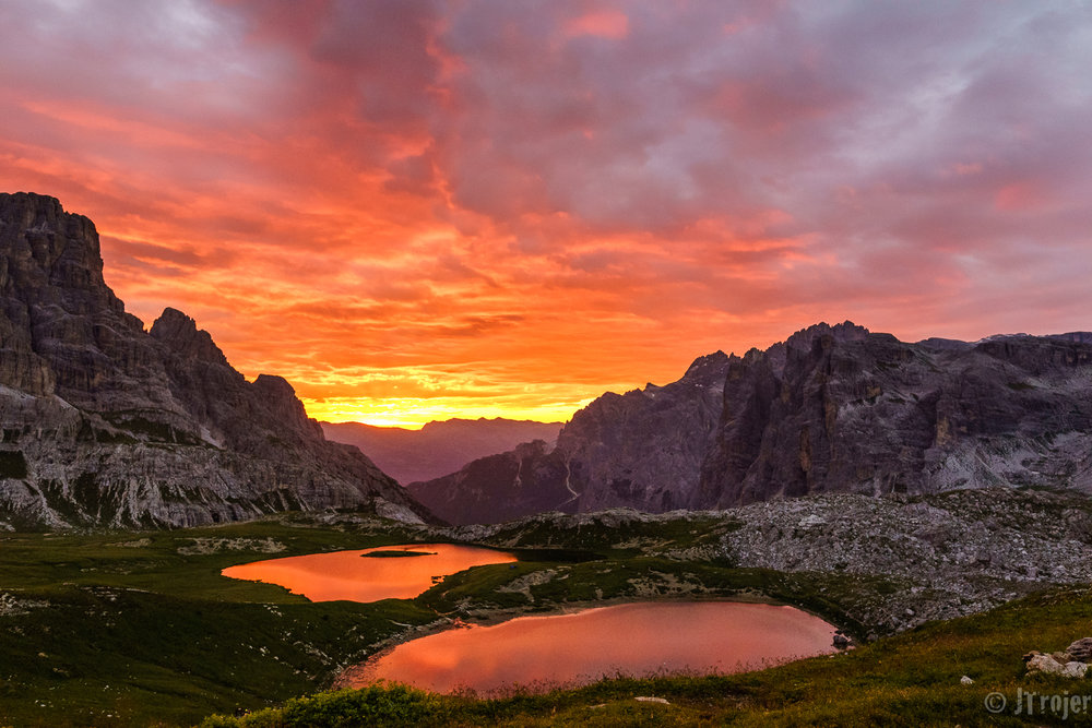 Sunrise in the Dolomites - @f/5.6