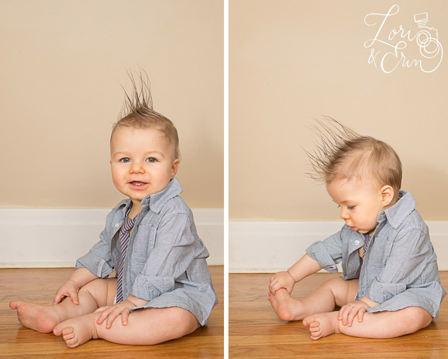 8 month old with mohawk