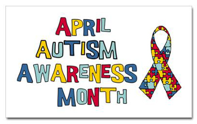 autism awareness month ribbon