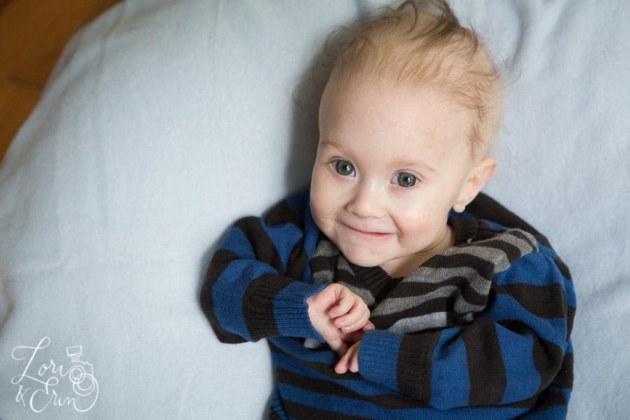 baby boy smile