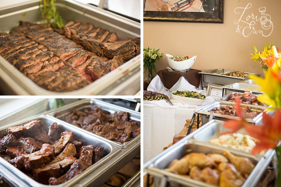 meats on a buffet